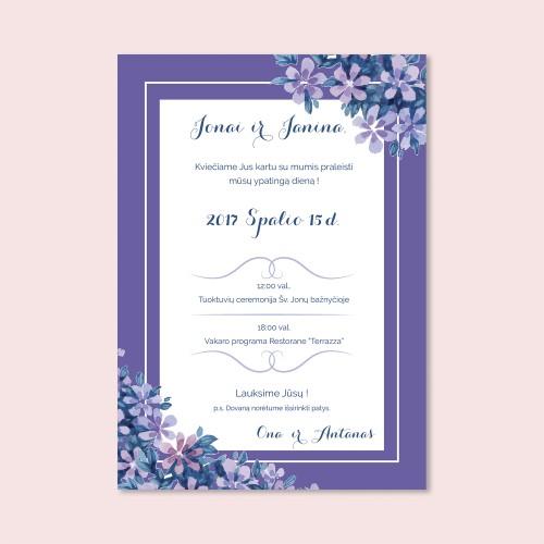 Šviesiai violetinis kvietimas